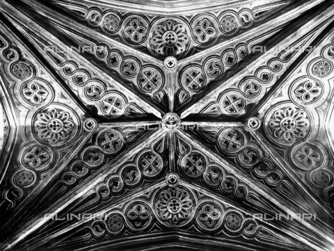 ACA-F-32634A-0000 - Vittorio Alinari?s first trip: Ceiling of the Cathedral of Santa Chiara in Iglesias - Date of photography: 26/05-12/06/1913 - Alinari Archives-Alinari Archive, Florence