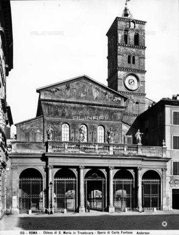 ADA-F-000153-0000 - Facade, basilica of Saint Maria in Trastevere, Rome