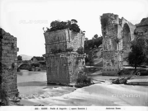 ADA-F-000363-0000 - The Augustus Bridge near Narni - Date of photography: 1890 ca. - Alinari Archives-Anderson Archive, Florence