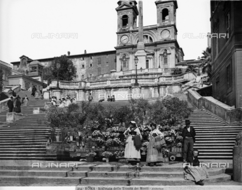 ADA-F-000494-0000 - Spanish Steps, or the Staircase to Trinità dei Monti, Francesco de Sanctis, Piazza di Spagna, Rome