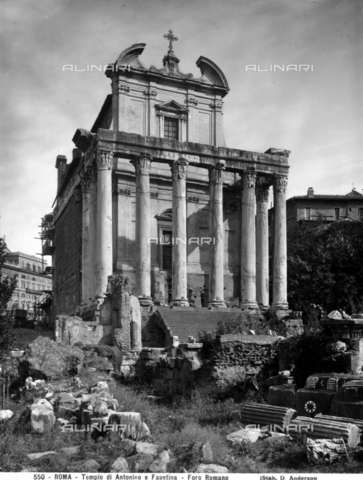 ADA-F-000550-0000 - Temple of Antoninus and Faustina, now the Church of San Lorenzo in Miranda, Roman Forum, Rome