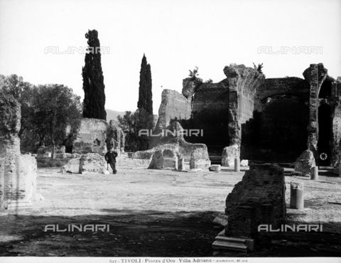 ADA-F-000617-0000 - Ruins of the Piazza d'Oro of Hadrian's Villa in Tivoli - Data dello scatto: 1890 ca. - Archivi Alinari, Firenze