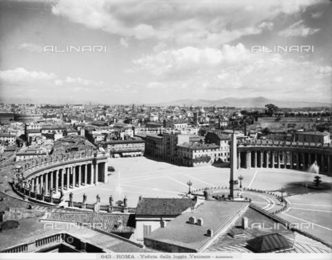 ADA-F-000643-0000 - Bernini's Colonnade, Colonnade of Piazza San Pietro, Rome- Vatican City