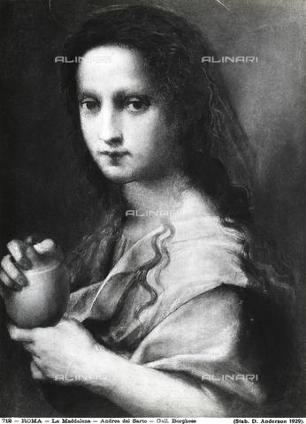 ADA-F-000712-0000 - Maddalena, dipinto di Andrea del Sarto, Galleria Borghese, Roma - Data dello scatto: 1929 ca. - Archivi Alinari, Firenze