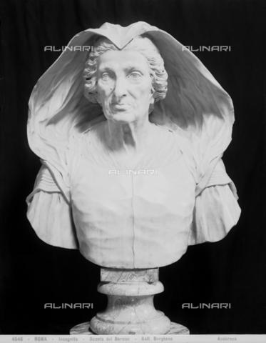 ADA-F-004546-0000 - Bust of Felice Zacchia Rondanini, white marble, Domenico Guidi (1625-1701), Galleria Borghese, Rome - Date of photography: 1890 ca. - Alinari Archives-Anderson Archive, Florence