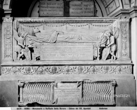 ADA-F-006479-0000 - Funeral monument of Raffaele della Rovere cardinal, marble, Andrea Bregno (c. 1418-1503), Church of the Santissimi Apostoli, Rome - Date of photography: 1890 ca. - Alinari Archives-Anderson Archive, Florence