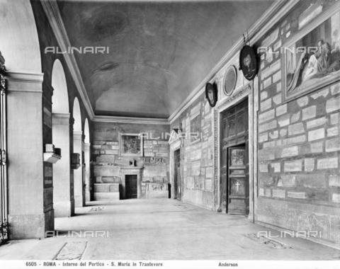 ADA-F-006505-0000 - Portico of the Basilica of Santa Maria in Trastevere, Rome - Date of photography: 1890 ca. - Alinari Archives-Anderson Archive, Florence