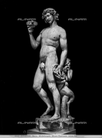 ADA-F-008619-0000 - Bacchus, marble, Michelangelo Buonarroti (1475-1564), National Museum of the Bargello, Florence - Date of photography: 1890 ca. - Alinari Archives-Anderson Archive, Florence