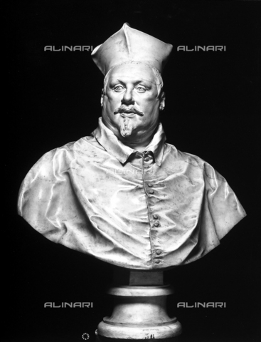 ADA-F-014490-0000 - Bust of Cardinal Scipione Borghese, sculpture, Gian Lorenzo Bernini (1598-1680), Galleria Borghese, Rome - Date of photography: 1890 ca. - Alinari Archives-Anderson Archive, Florence