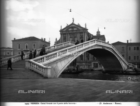 ADA-F-014519-0000 - Veduta del Ponte degli Scalzi sul Canal Grande a Venezia - Data dello scatto: 1901 - Archivi Alinari-archivio Anderson, Firenze