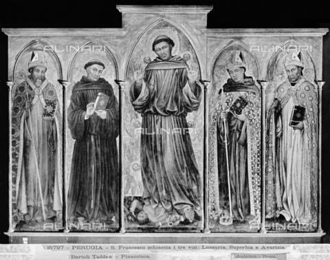 ADA-F-015727-0000 - Polyptych, tempera on panel, Taddeo di Bartolo (1362-1422), Galleria Nazionale dell'Umbria, Perugia - Date of photography: 1915 - Alinari Archives-Anderson Archive, Florence
