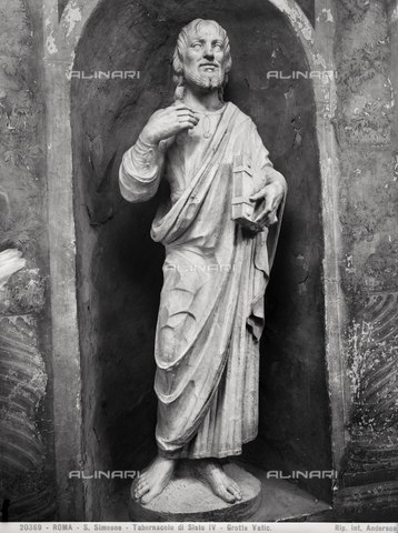 ADA-F-020369-0000 - Saint Simeone, the Tabernacle of Sixtus IV, the Vatican Grottoes, Vatican City - Date of photography: 1920 - Alinari Archives-Anderson Archive, Florence