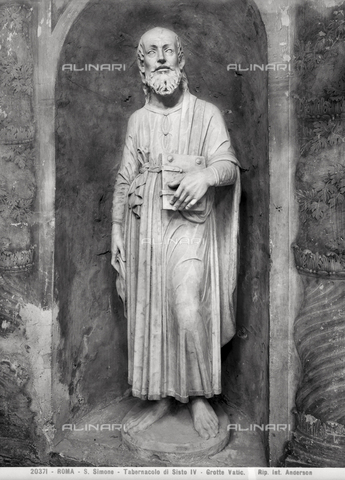 ADA-F-020371-0000 - Saint Simone, the Tabernacle of Sixtus IV, the Vatican Grottoes, Vatican City - Date of photography: 1920 - Alinari Archives-Anderson Archive, Florence
