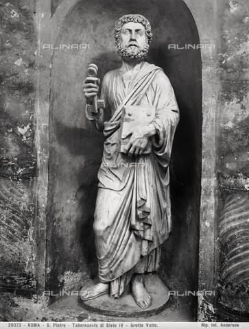 ADA-F-020373-0000 - Saint Peter, the Tabernacle of Sixtus IV, the Vatican Grottoes, Vatican City - Date of photography: 1920 - Alinari Archives-Anderson Archive, Florence
