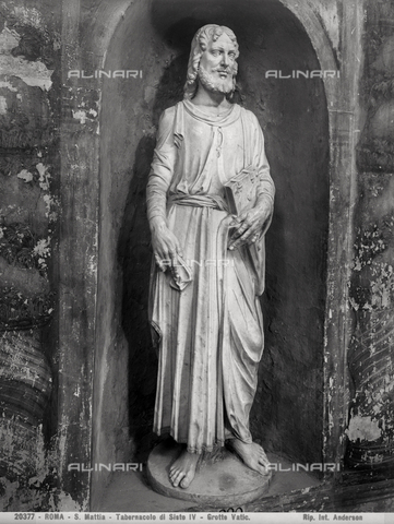 ADA-F-020377-0000 - Saint Mattia, the Tabernacle of Sixtus IV, the Vatican Grottoes, Vatican City - Date of photography: 1920 - Alinari Archives-Anderson Archive, Florence