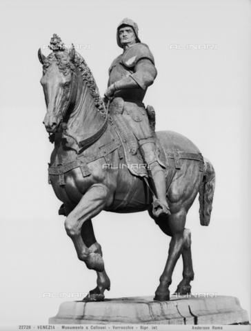 ADA-F-022728-0000 - Equestrian statue of Bartolomeo Colleoni in Campo San Zanipolo in Venice by Andrea del Verrocchio (1435-1488) - Date of photography: 1902 - Alinari Archives-Anderson Archive, Florence