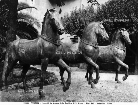 ADA-F-024546-0000 - Horses of the Quadriga of San Marco, gilded bronze, formerly Basilica of San Marco, today Museum of San Marco, Venice