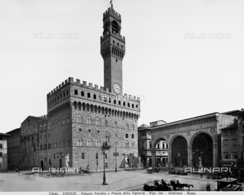ADA-F-025046-0000 - Old Palace, Signoria square, Firenze - Date of photography: 1925 ca. - Alinari Archives-Anderson Archive, Florence