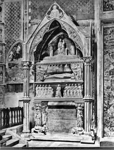 ADA-F-025288-0000 - Funeral monument of Carlo duca di Calabria, marble, Tino di Camaino (1285 circa-1337), Basilica of Santa Chiara, Naples - Date of photography: 1925 - Alinari Archives-Anderson Archive, Florence