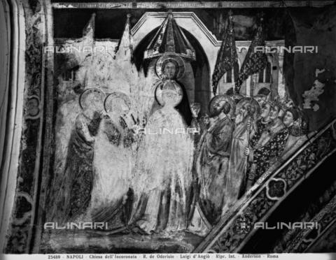 ADA-F-025489-0000 - The Triumph of Religion, fresco, Roberto de Odorisio (1335-1382), Church of Incoronata, Naples - Date of photography: 1925 - Alinari Archives-Anderson Archive, Florence
