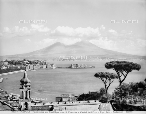 ADA-F-026357-0000 - View of the gulf of Naples with Mount Vesuvius in the background