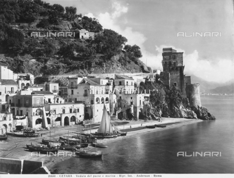 ADA-F-026641-0000 - View of the small port and ancient town of Cetara, a quaint seaside resort on the Amalfi Coast