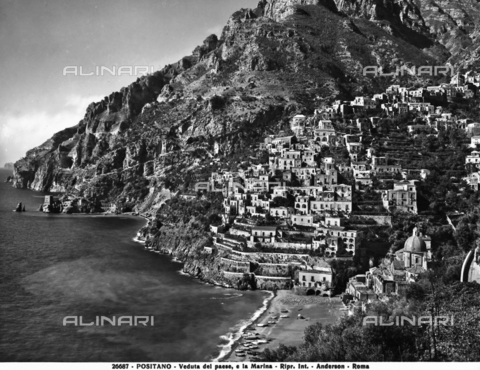 ADA-F-026687-0000 - View of the town and seashore of Positano