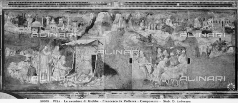 ADA-F-028163-0000 - Stories of Job taken from the Old Testament, fresco, Taddeo Gaddi (1290 - 1366), Camposanto, Pisa - Date of photography: 1920-1930 ca. - Alinari Archives-Anderson Archive, Florence