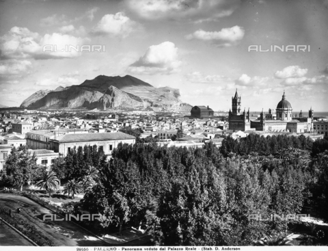 ADA-F-029155-0000 - Panorama of Palermo seen from the Royal Palace. Mount Pellegrino can be seen on the horizon.