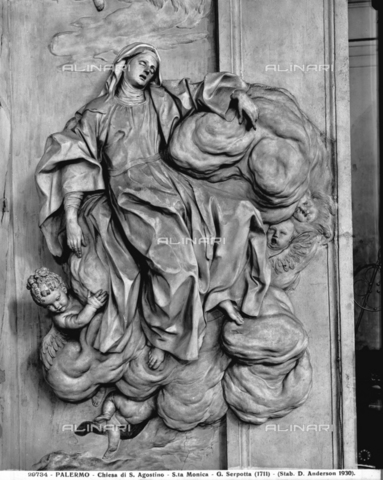 ADA-F-029734-0000 - Santa Monica, stucco, Giacomo Serpotta (1656 - 1732), church of Sant'Agostino, Palermo - Date of photography: 1930 - Alinari Archives-Anderson Archive, Florence