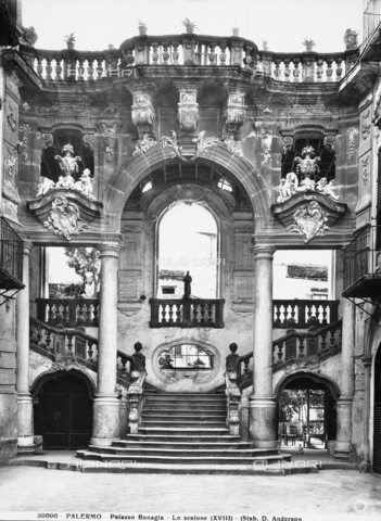ADA-F-029896-0000 - Large staircase, Formerly Bonagia Palace, Palermo