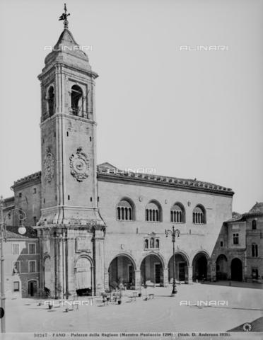 ADA-F-030247-0000 - View of the Palazzo del Podestà in Fano - Date of photography: 1931 - Alinari Archives-Anderson Archive, Florence
