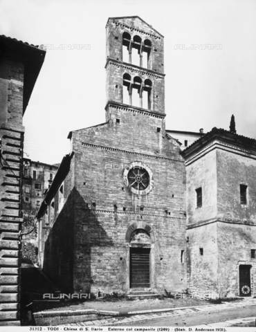 ADA-F-031312-0000 - Faà§ade, church of Sant'Ilario, now church of San Carlo, Todi