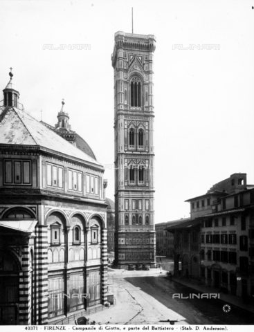 "ADA-F-040371-0000 - Bell tower of Cathedral of Santa Maria del Fiore, called ""Campanile di Giotto"", Florence"