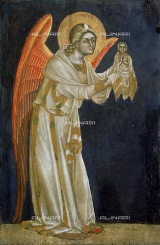 AGC-F-000632-0000 - Dipinto di Guariento raffigurante un angelo con l'effigie di Gesù Bambino conservato nel Museo Civico a Padova - Data dello scatto: 1992 - Archivi Alinari, Firenze