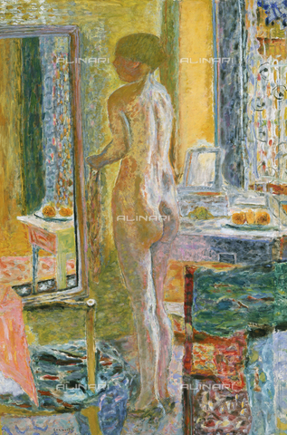 AGC-F-000978-0000 - Dipinto raffigurante un Nudo femminile di fronte allo specchio, opera di Bonnard, conservata presso la Ca' Pesaro, a Venezia. - Data dello scatto: 1993 - Archivi Alinari, Firenze