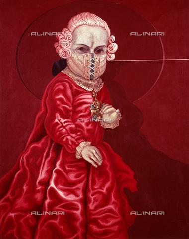 AGC-F-001545-0000 - Autoritratto di C. Mensa nella Galleria 32 a Milano. - Data dello scatto: 1993 - Archivi Alinari, Firenze