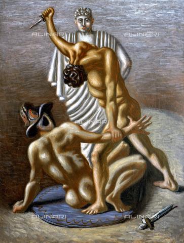 AGC-F-001807-0000 - Gladiatori, dipinto di Giorgio De Chirico conservato presso il Museo Civico Revoltella a Trieste - Data dello scatto: 1994 - Archivi Alinari, Firenze