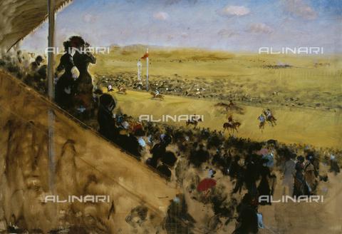 AGC-F-002451-0000 - Le corse a Longchamps. Dipinto di Giuseppe de Nittis, conservato nella Collezione de Nittis al Museo Civico di Barletta. - Data dello scatto: 1997 - Archivi Alinari, Firenze