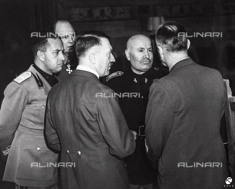 AIL-F-128217-0000 - The Fuhrer met Benito Mussolini, in the presence of the Ministers of Foreign Affairs Galeazzo Ciano and Joachim von Ribbentrop - Data dello scatto: 28/10/1940 - Luce Institute/Alinari Archives Management, Florence