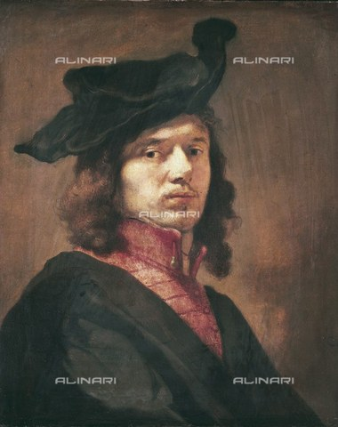 AIS-F-030995-0000 - Self-portrait, oil on canvas, Carel Fabritius (1622-1654), Alte Pinakothek, Monaco - Iberfoto/Alinari Archives, BeBa