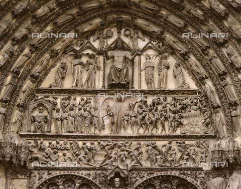 AIS-F-092505-0000 - Last Judgement, relief, West facade of the Cathedral of Saint Etienne in Bourges - Iberfoto/Alinari Archives, J. Bedmar/Iberfoto