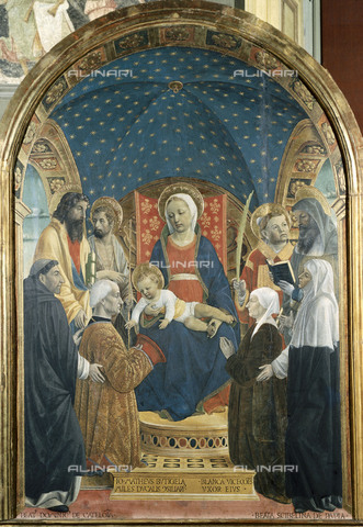 AIS-F-095714-0000 - Pala Bottigella, oil on panel, Foppa, Vincenzo (1427-1515), Pavia, Civic Museums of the Visconti Castle Pinacoteca Malaspina - Iberfoto/Alinari Archives, BeBa