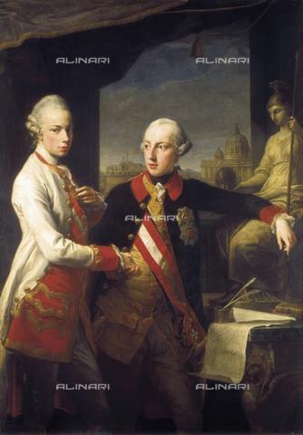 AIS-F-095749-0000 - The Emperor Joseph II with the Grand Duke Peter Leopold of Tuscany, oil on canvas, Batoni, Pompeo Girolamo (1708-1787), Kunsthistorisches Museum, Vienna - Iberfoto/Alinari Archives, BeBa