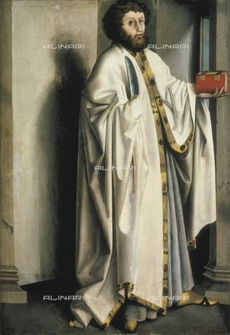 AIS-F-096781-0000 - Saint Bartholomew, oil on panel, Witz Konrad (ca 1400-ca 1446), Museum of Fine Arts, Basel - Iberfoto/Alinari Archives, BeBa