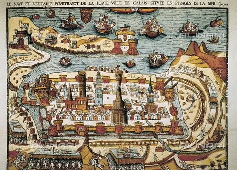 "AIS-F-098263-0000 - Calais in 1538. Xylography. ITALY. Milan. Civica Raccolta delle Stampe ""Achille Bertarelli"" (Achille Bertarelli collection of prints). - Iberfoto/Alinari Archives, J. Bedmar"