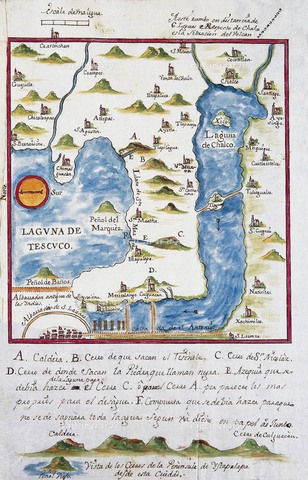 AIS-F-099833-0000 - Map of the archbishopric of Mexico (1767), by José Antonio Alzate. View of the area of Tenochtitlan, the lagoons of Chalco and Tescuco. From the Lorenzana-Borbà³n Collection. SPAIN. Toledo. State Public Library. - Iberfoto/Alinari Archives, J. Bedmar