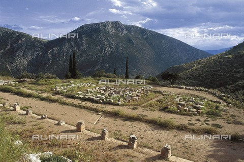 AIS-F-100449-0000 - GREECE. CENTRAL GREECE. PHOCIS. Delphi. Gymnasium. - Iberfoto/Alinari Archives, J. Bedmar