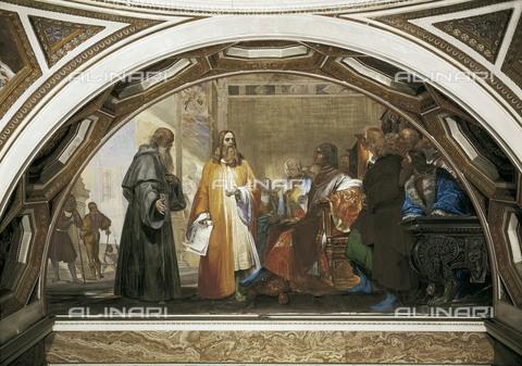 AIS-F-110126-0000 - CIANFANELLI, Nicola (1793-1848). Leonardo da Vinci in the Company of Lodovico Sforza. Fresco. ITALY. Florence. Galileo's Tribune. - Iberfoto/Alinari Archives, BeBa