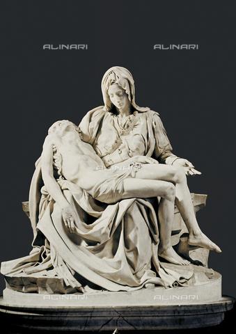 AIS-F-110151-0000 - Michelangelo (1475-1564). Pieta. 1498-1499. Renaissance art. Cinquecento. Sculpture on marble. VATICAN CITY. Saint Peter's Basilica. - Iberfoto/Alinari Archives, BeBa